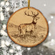 Rustic wood Christmas ornaments Deer Collection Buck Doe