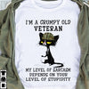 Grumpy old veteran T-shirt/ Tank/ Hoodie/ Long Sleeve/ Sweatshirt- tan16092002