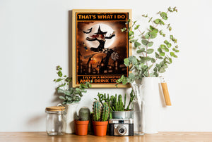 Fly on a Broomstick Drink Tonic Poster blnt27082003