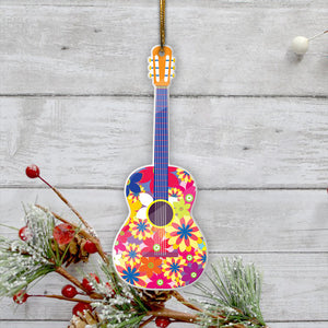 Hippie Guitar Mica Ornament- tahn12112010
