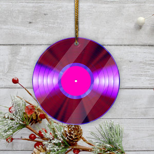 Music Dics Mica Ornament