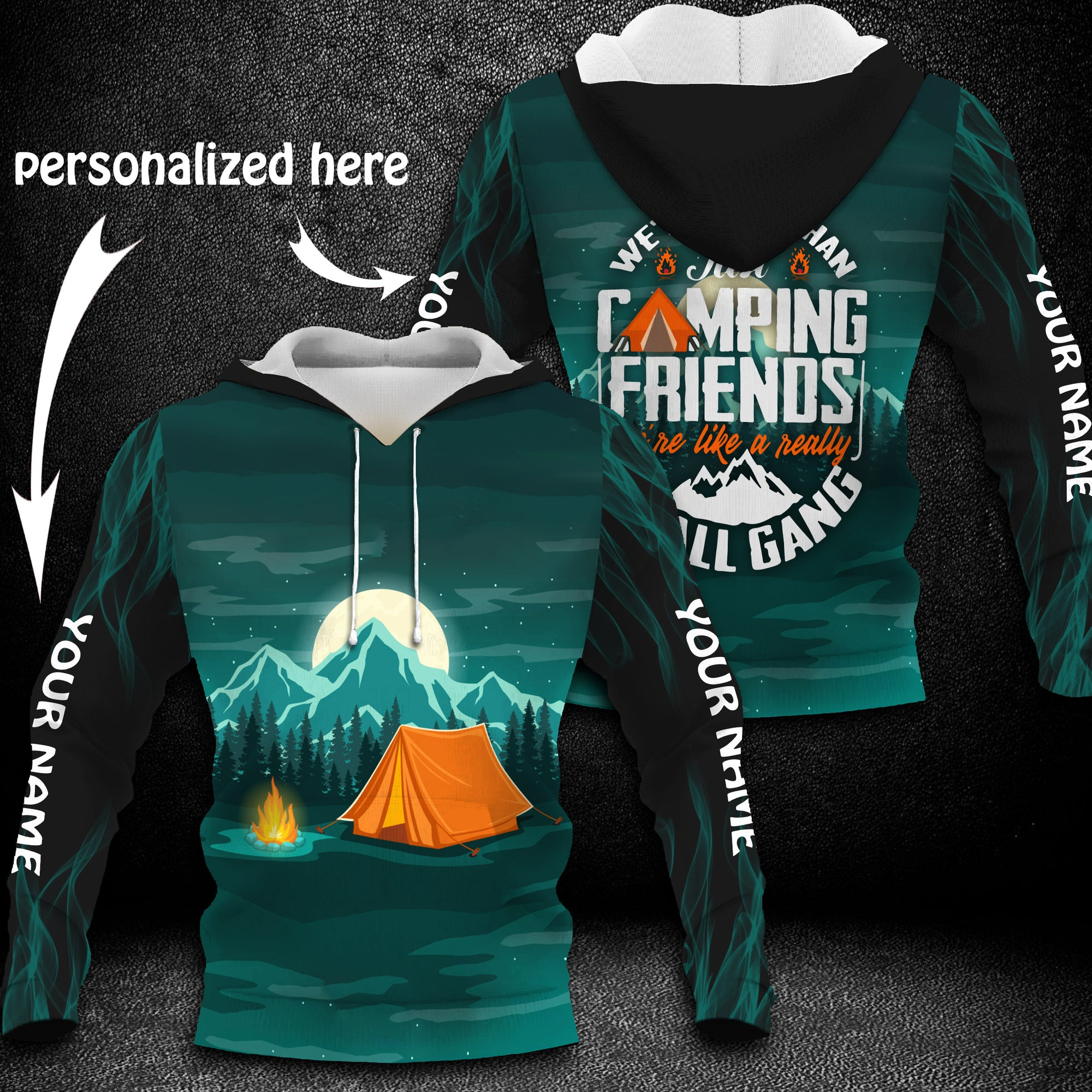 Camping personalized 3D T-shirt/ Sweatshirt/ Hoodie personalized name