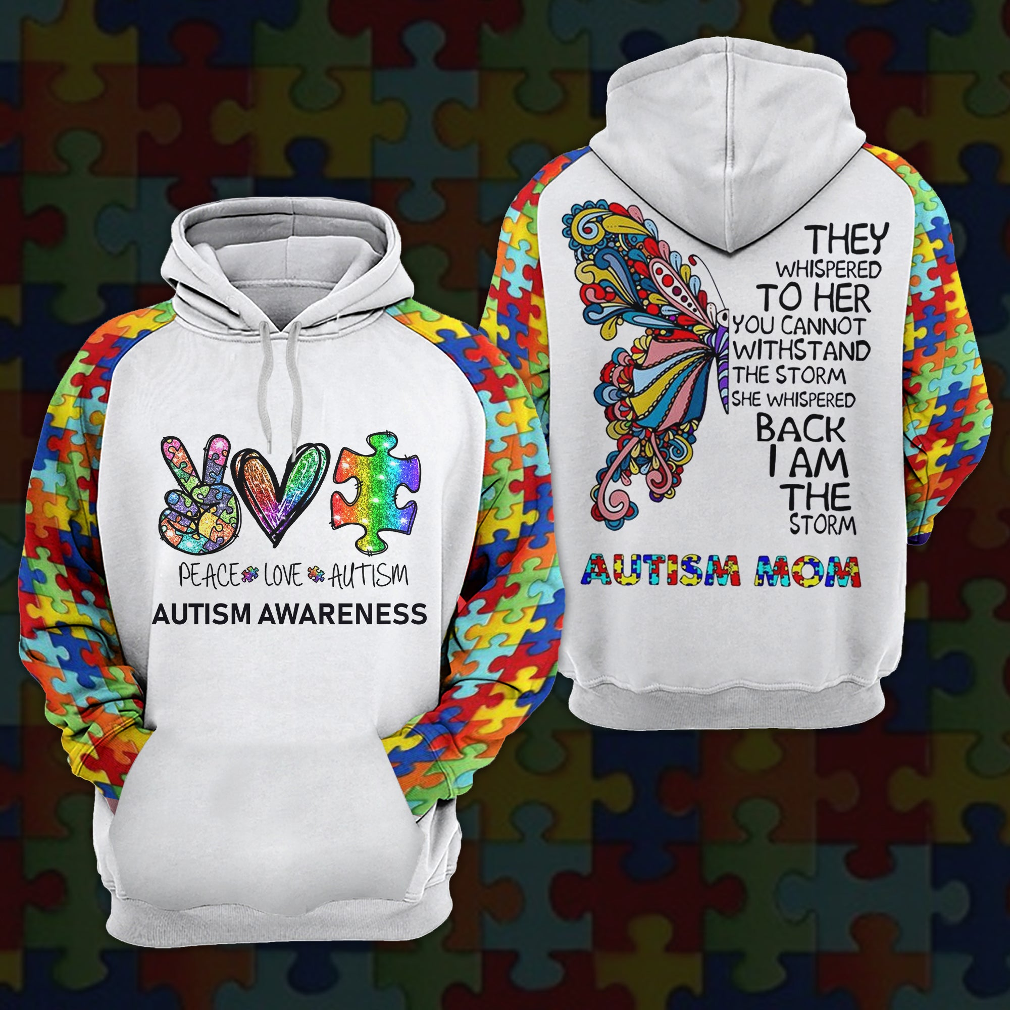Autism Mom Hoodie/ T-shirt/ Sweater