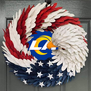 AMERICAN EAGLE WREATH WITH Los Angeles Rams HOME DECOR