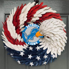 AMERICAN EAGLE WREATH WITH Detroit Lions  HOME DECOR