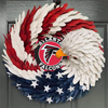 AMERICAN EAGLE WREATH WITH Atlanta Falcons HOME DECOR