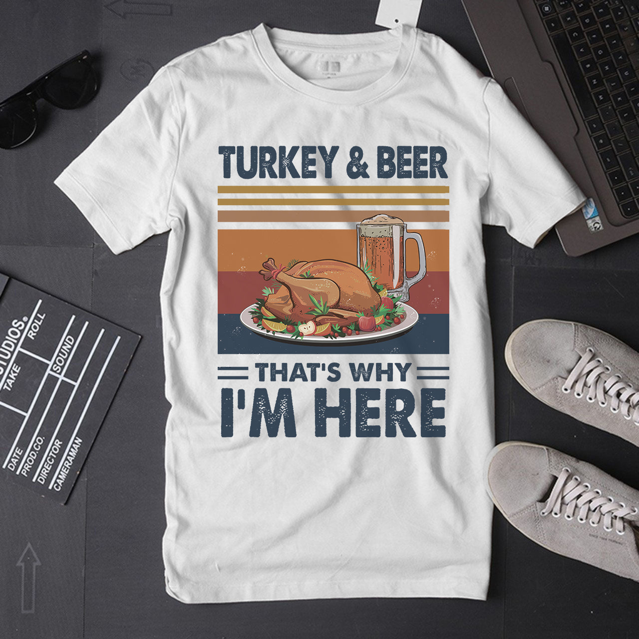 TURKEY AND BEER THAT'S WHY I'M HERE T-shirt/ Hoodie/ Crew ntant17092003