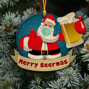 2020 Christmas Beer Wooden Ornament xtnh05112001