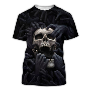 Unhinged Skull 3D All Over Printed Hoodie, T-Shirt, Sweater