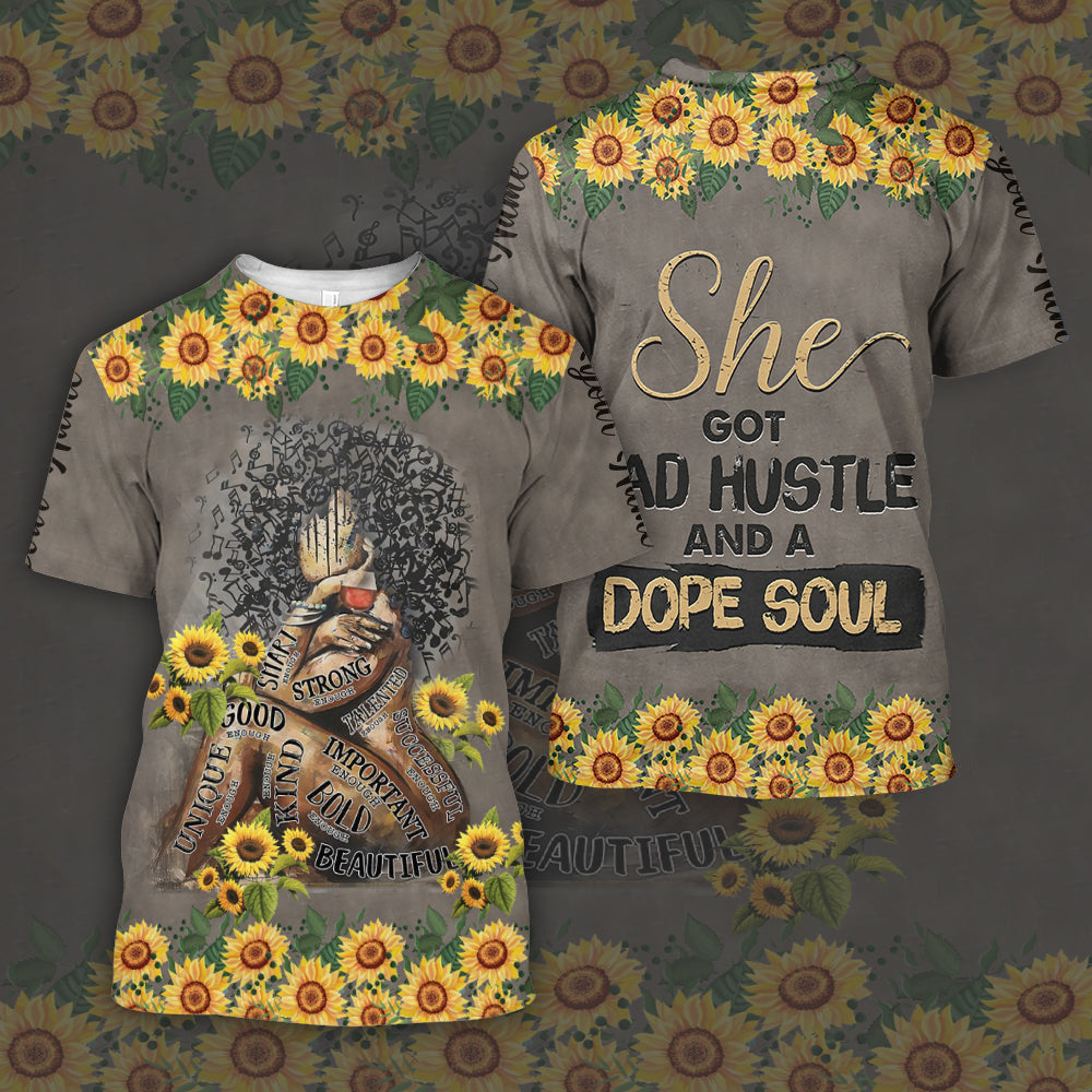 she got mad hustle and a dope soul 3D personalized name - aanh13102001