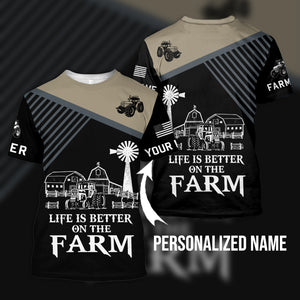 Life is better on the farm 3D Personalized Sweatshirt,Hoodie