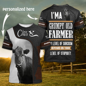 Cow Lover 3D Personalized Name - ttxp04112001