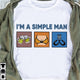 I'm a Simple Man T-shirt/ Crew ntan15092003