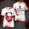 Blood stains are red 3D Tshirt