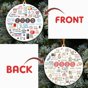 Quarantine Christmas 2-Sided Ornament