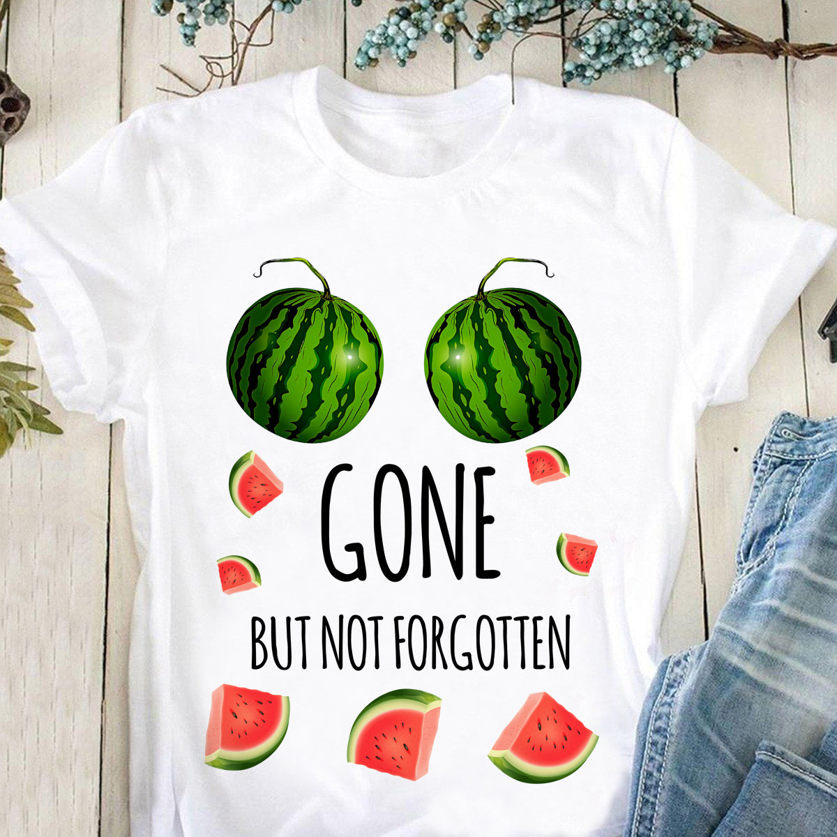 Gone but not forgotten Breast Cancer T-shirt/ Tank/ Long Sleeve/ Hoodie/ Sweatshirt- tan07092001
