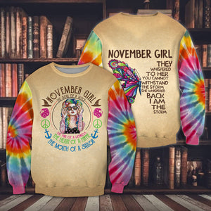 Hippie Girl Was Born In This Month 3D Hoodie