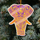 Elephant Mica Ornament blvh11112006