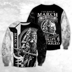 MARCH - VIKING WARRIORS MY SCARS 3D SHIRT