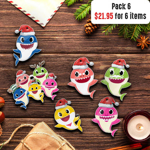 Baby shark Christmas ornament-aahn04112006-11