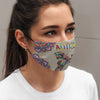 In the world where you can be anything Be kind Mask 3D All Printed for Adult