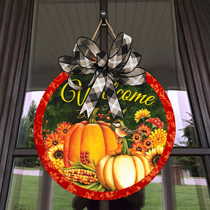 Thanksgiving Welcome Wood Sign for Home Decor