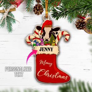 Personalised Mooey Christmas Wooden Ornaments
