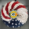AMERICAN EAGLE WREATH WITH Green Bay Packers - HOME DECOR