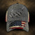 Fishing Metal Pattern Flag Classic Cap
