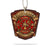 Firefighters Integrity Justice Shield Car Ornament