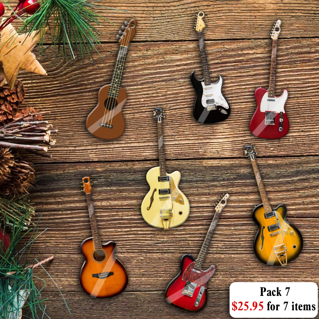 Guitar Collection Mica Ornaments