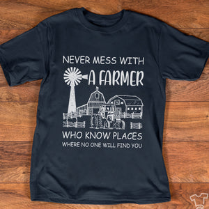 Never mess with a farmer Tshirt-bdnt22091002