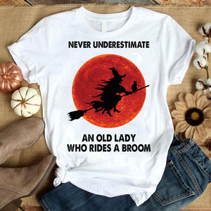 Never underestimated An old lady T-shirt/ Tank/ Long Sleeve/ Hoodie/ Sweatshirt