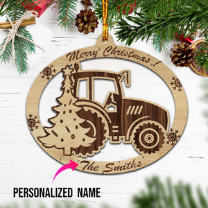Personalised Tractor Christmas Wooden Ornaments - Customer's Product with price 16.99