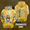 Sunflower goat 3D hoodie personalized name aanh29102001 - Customer's Product with price 45.99