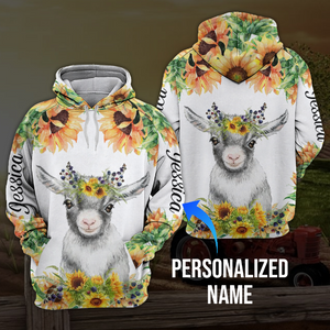 Sunflower goat 3D personalized name aanh30102001 - Customer's Product with price 45.99