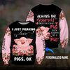 I just freaking love Pigs, OK 3D hoodie personalized name aanh02112002 - Customer's Product with price 39.99