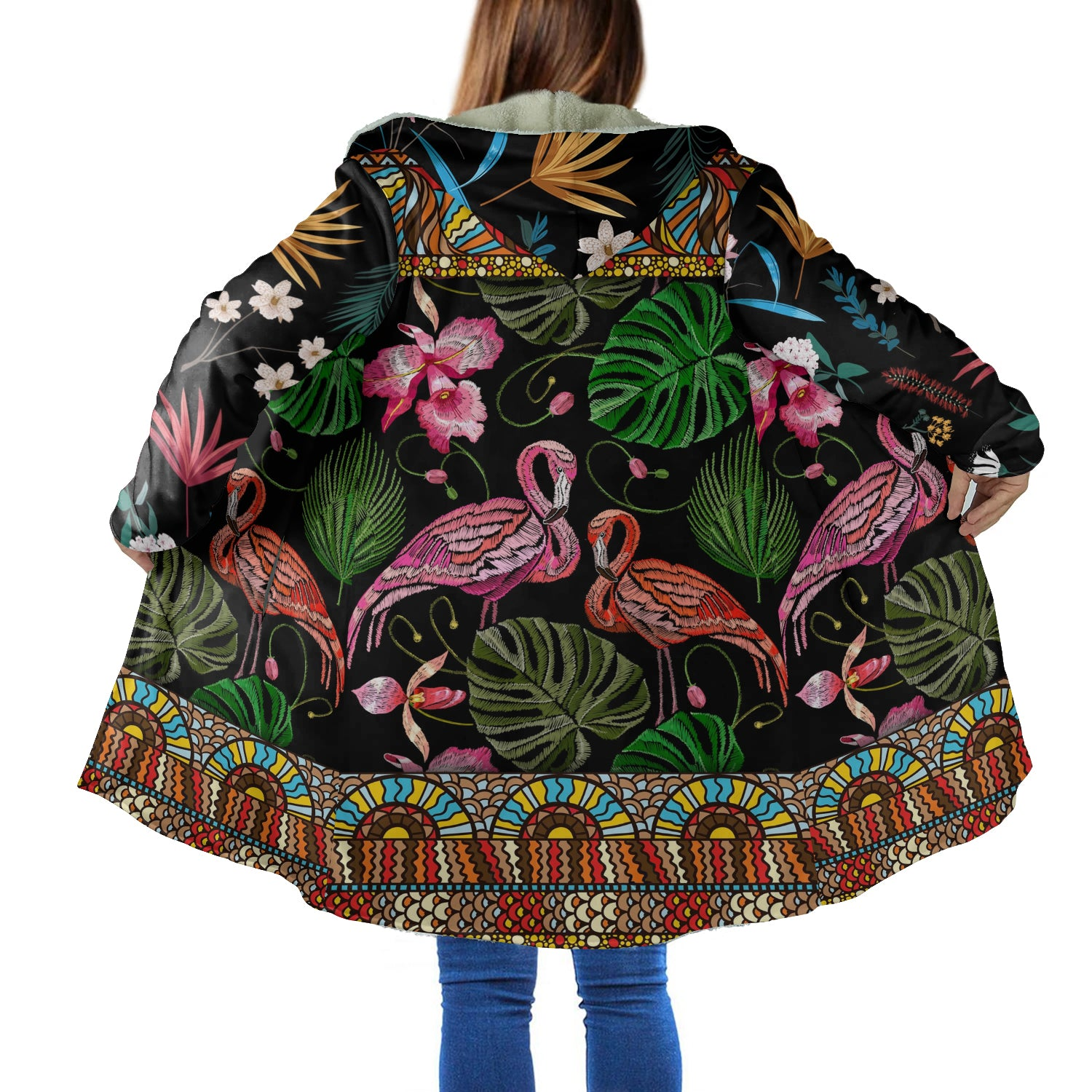 Flamingo 3D All Over Printed Hooded Coat for Men and Women dah171201