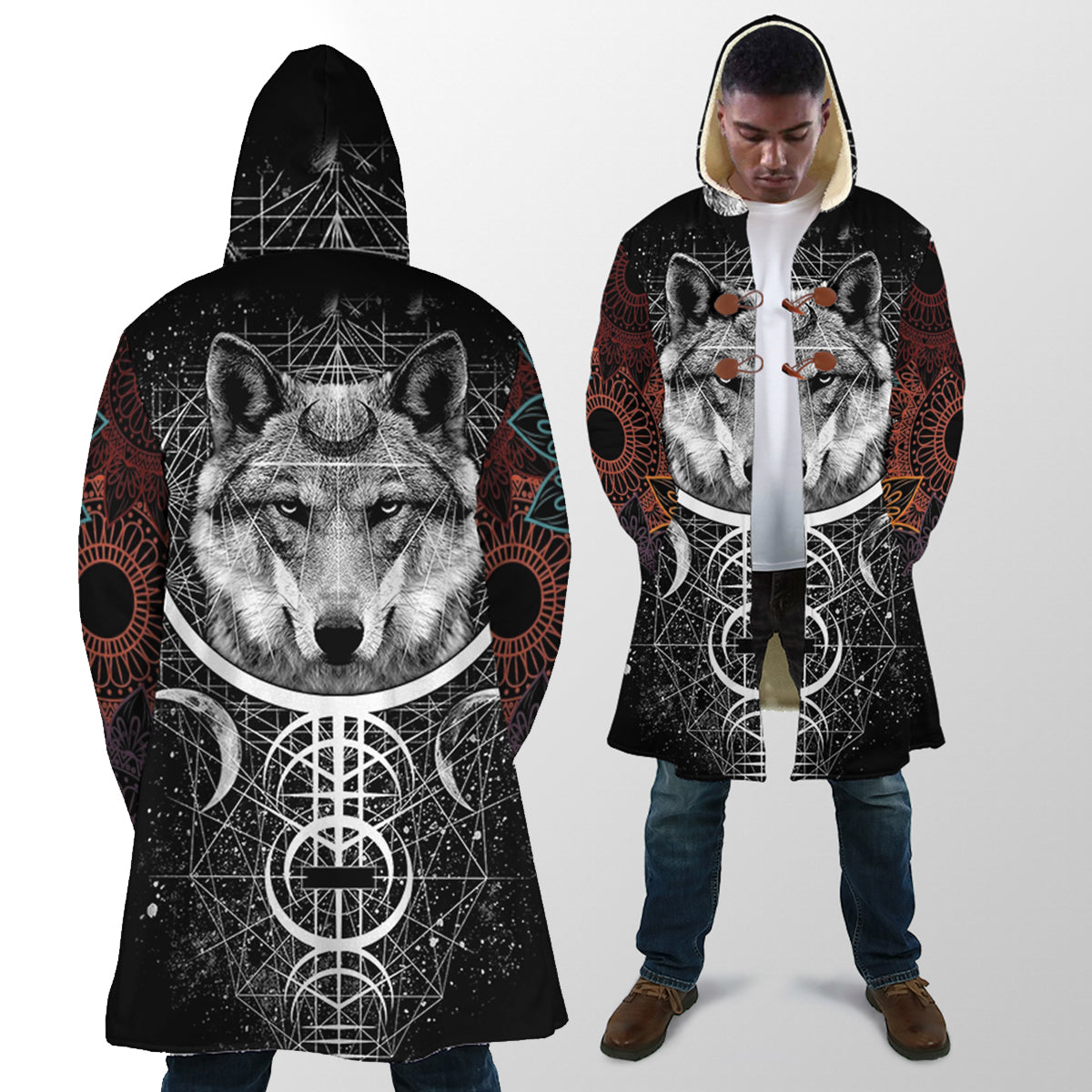 Wolf 3D All Over Printed Hooded Coat for Men and Women dam201201
