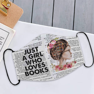 Just A Girl Who Loves Books Mask 3D All Printed for Adult