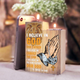 i believe in God - wood candle holder