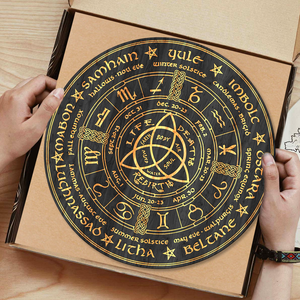 Wooden laser cut Sabbat wheel of the year calendar