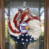 AMERICAN EAGLE WREATH WITH New York Giants - HOME DECOR
