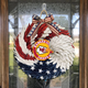 AMERICAN EAGLE WREATH WITH Kansas City Chiefs - HOME DECOR