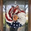 AMERICAN EAGLE WREATH WITH Cincinnati Bengals HOME DECOR