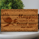 Solid Oak Wooden Memorial Plaque 'Magpies Appear When Loved Ones Are Near'