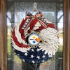 AMERICAN EAGLE WREATH WITH Pittsburgh Steelers - HOME DECOR