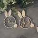 RABBIT tags Easter basket tag Rabbit Personalized Easter name tags Labels Gift tags Custom wooden name Easter basket Easter Rabbit decor