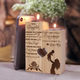 To My daughter- wood candle holder
