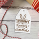 Easter Wood Tag, Tiered Tray Decor, Chocolate Bunny Tag, Bunny Sign, Farmhouse Decor, room and shelf decor